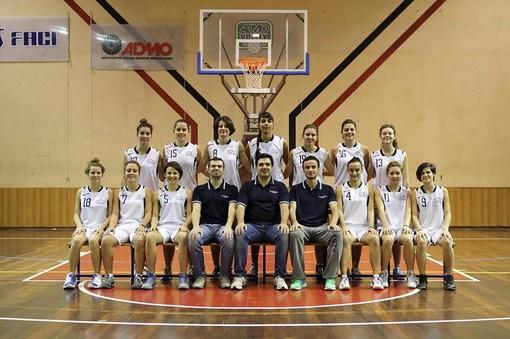 Le ragazze della Polysport Basket Lavagna, allenate da coach Nicola Daneri