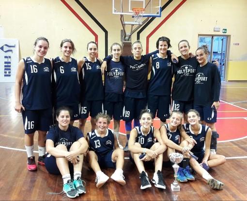 Le ragazze della prima squadra della Polysport Basket Lavagna