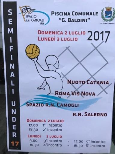 Domenica e lunedì sono in programma le semifinali del campionato nazionale Under 17 di pallanuoto maschile