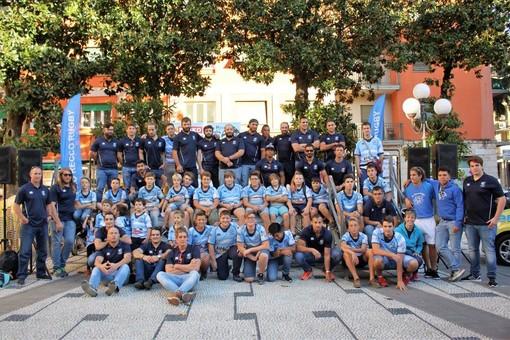 Foto di gruppo per la Pro Recco 2017-2018, dalla prima squadra alle giovanili (foto di Luigi Galli)