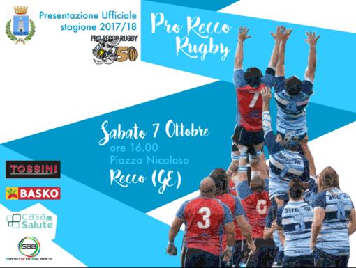 La Pro Recco Rugby verrà ufficialmente presentata nel pomeriggio di sabato 7 ottobre