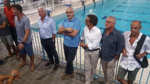 Lo staff della Chiavari Nuoto