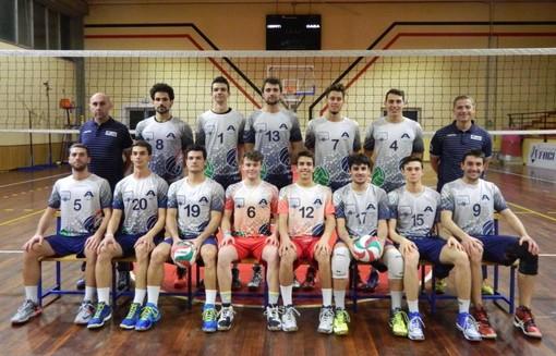 La squadra dell'Admo Lavagna vincitrice della serie C maschile di volley 2016-2017 e promossa in B nazionale