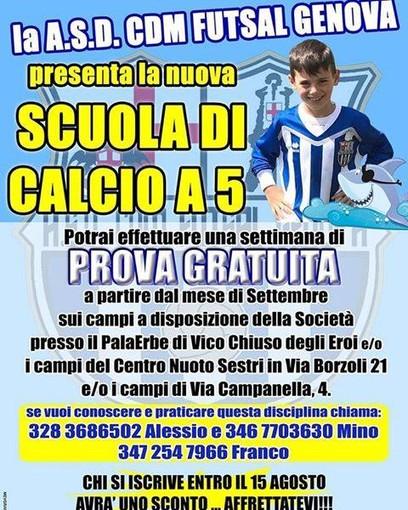 CDM Futsal, parte la scuola calcio a 5 giovanile